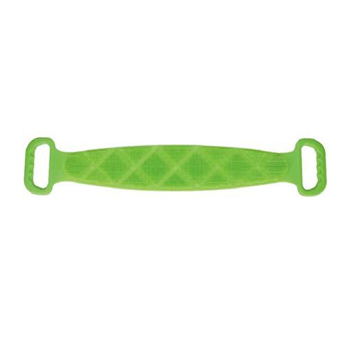 Hemoton Tergicristallo Esfoliante per La Cinghia per Scrubber Posteriore in Silicone per Uomo Donna Verde