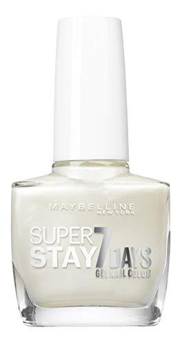 Maybelline Superstay 7 Giorni 77 Nacré Blanc - smalto (bianco, Nacré Blanc, Francia, 10 ml, 2.100 cm, 11.600 cm)