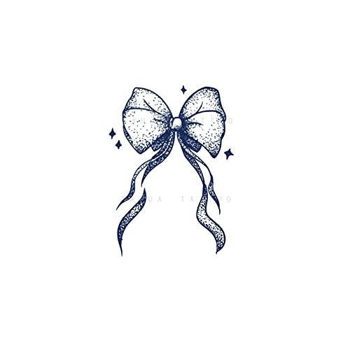 YLGG Adesivi per Tatuaggi temporanei alla Moda con Fiocco, Adatti per Uomini e Donne, Impermeabili, Rimovibili