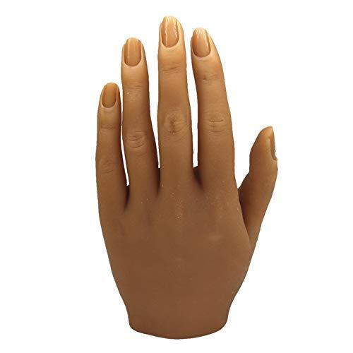 ShuYing 1pc Practice in Silicone Mano manichino Femminile Mano con Regolazione Flessibile Dita per Le Unghie Anelli mostrano Pratica del Tatuaggio (Colore : No.4 Left)