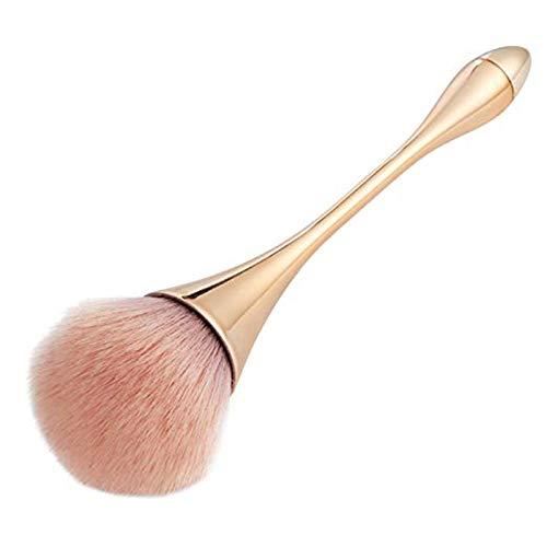 Ruesious pennello professionale per make up,ideale per fard e cipria,forma grande e rotonda Pennelli per viso (d'oro) pennello cipria grande