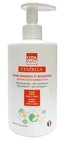 CYTOLNAT® Centella 500 ml - Flacone pompa per uso professionale - Crema Riparatrice e Lenitiva - Centella Asiatica – Ipoallergenica e non comedogenica