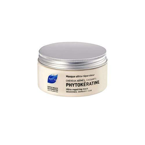 PHYTO PHYTOKERATINE Maschera ultra-riparatrice alla cheratina vegetale e acido ialuronico - Capelli rovinati, che si spezzano - Riparazione - Idratazione - Luminosità - Senza siliconi - 200ml