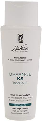 Bionike Defence KS Tricosafe Shampoo Anticaduta per Capelli Fragili e Diradati, Deterge con Delicatezza e Rinforza il Capello Ristabilendo l'Equilibrio del Cuoio Capelluto - 200 ml