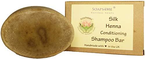 Attis Handmade Silk Henna condizionata miscela di erbe shampoo bar | con Amla | Tea Tree & arancione oli essenziali | Sulfate free | per uomo e donna | vegan