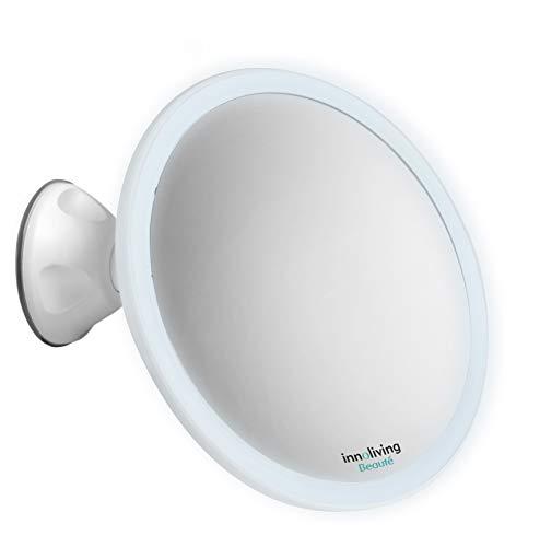Specchio ingranditore luminoso con ventosa illuminazione led INN-804 Innoliving