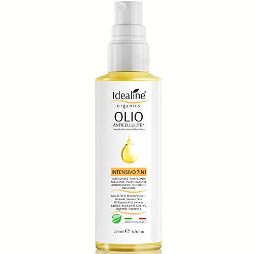 Olio Anticellulite Professionale INTENSIVO 7IN1 100% BIO Cellulite e Smagliature MAXI SPRAY 200ml Essenze Limone Basilico Rosmarino Cannella Idealine
