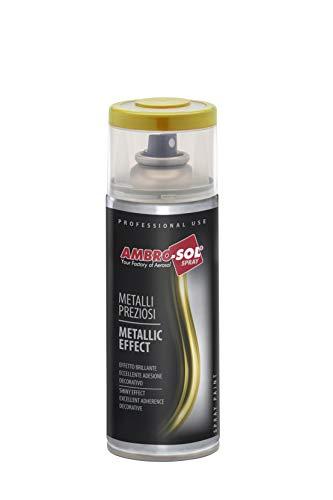 Ambro-Sol V400MET4 Smalto Effetto Metalli Preziosi, Argento, 400 ml