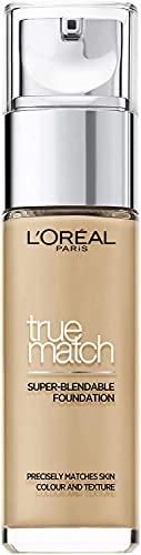 L'Oréal Paris True Match, Fondotinta, W3 Golden Beige, 30 ml
