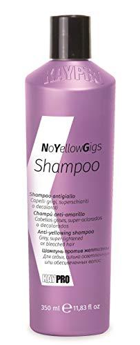KEPRO Kay Pro No Yellow Gigs SHAMPOO ANTIGIALLO per capelli biondi, decolorati o grigi 350ml