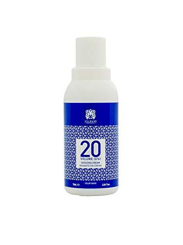 Valquer Profesional Crema Ossidante Professionale 20 Vol (6%), Acqua Ossigenata Per Tinture, Colorazione Permanente Dei Capelli, 75 Ml, Único