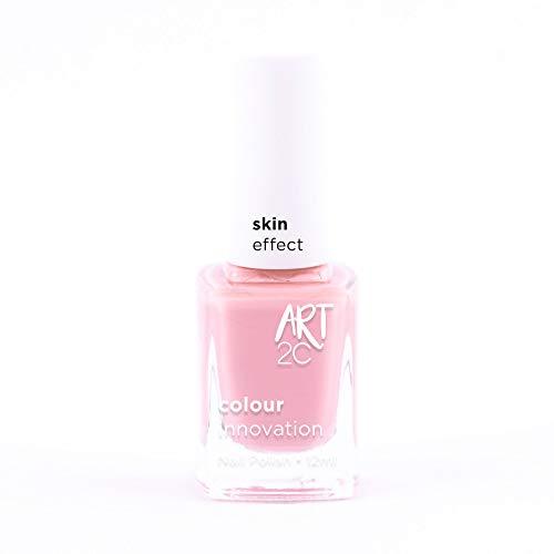 Art 2C Creamy Dream Soft Skin Effect Nail Polish - Smalto per unghie effetto 'pelle morbida', 6 colori, 12 ml, colore: SS01