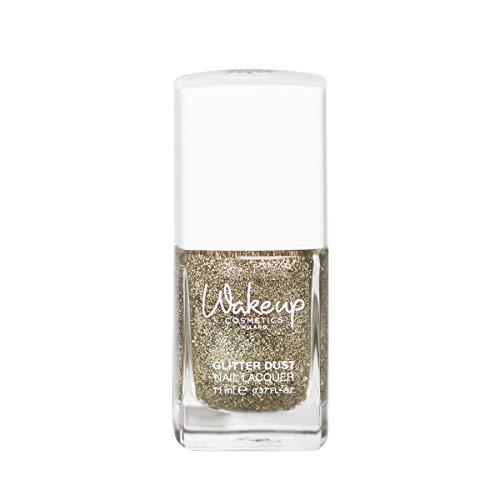 Wakeup Cosmetics Milano Smalto per unghie glitterato Glitter Dust, 01 Festive Gold - 11 ml