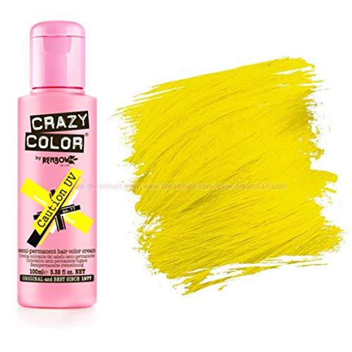 Crazy Color Hair Dye Caution Uv - 100Ml