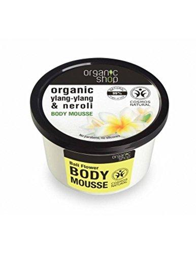 ORGANIC SHOP - Mousse Corpo all' Ylang-Ylang e Neroli Biologico - Straordinaria Morbidezza - Ringiovanisce la pelle - Naturale - 250 ml