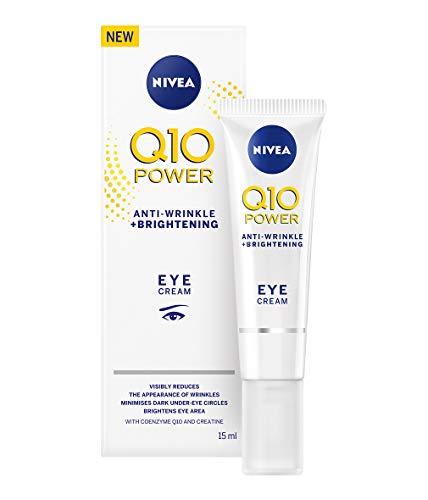 NIVEA Q10 Power Crema per gli occhi anti-età con potere rassodante anti-rughe (15 ml), crema per gli occhi per linee e rughe e occhiaie, potente crema sotto gli occhi