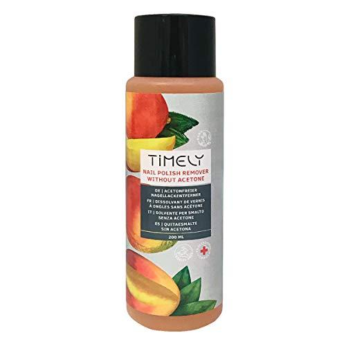 Timely Solvente per unghie senza acetone, con vitamine E e A e proteine della seta, formato piccolo, 200 ml