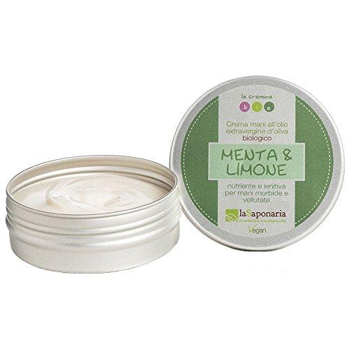 LA SAPONARIA Crema Mani Menta e Limone (Mani e Piedi) / Hand Cream Mint and Lemon (Mani e Piedi)