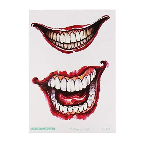 LLD 10.5x15cm Decorazione di Halloween Horror Ferita Spaventoso Adesivo per ferite di Sangue Tatuaggio Clessidra di Sangue, Tatuaggio Vampiro, N
