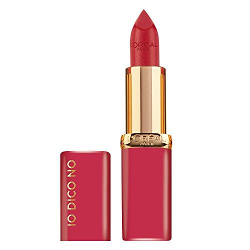 L'Oréal Paris Rossetto Lunga Durata Color Riche, Edizione Limitata, Idea Regalo Donna, Finish Satinato, IO DICO NO, 268 Rose Grenat