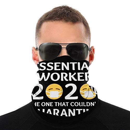 Essential Worker 2020 The One That Couldn't Quarantine Maschera per il viso antivento Protezione solare Sciarpa per la testa Protezione UV Scaldacollo Balaclava Bandane