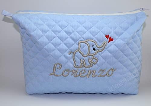 Trousse neonato da viaggio beauty case personalizzata con il nome ricamato del tuo bambino/a Made in Italy