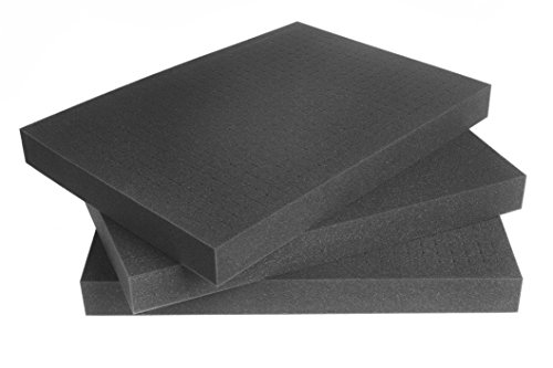 Pannelli di gommapiuma a cubetti per valigie per attrezzi o valigie per fotocamere 500mm x 350mm x 45mm (Quantità: 3)