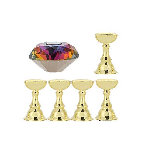 Espositore per unghie finte, supporto base in cristallo con estremità magnetica , per nail art, manicure, strumento fai da te e per saloni
