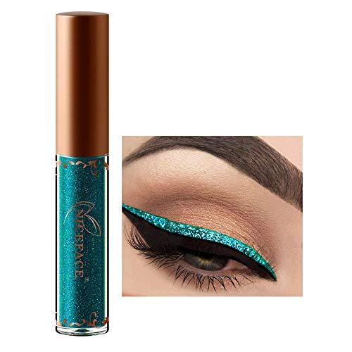 Liquido per trucco degli occhi,12 colori eyeliner con brillantini diamantati con brillantini eyeliner metallizzato lucido per occhi (9#)