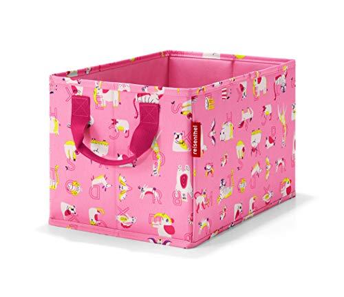 Reisenthel storagebox kids abc friends pink Beauty Case, 34 cm, 18 liters, Rosa (Abc Pink)