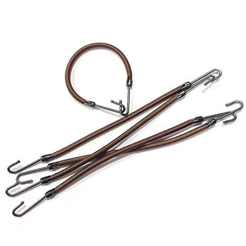 Frcolor 20pcs ganci coda di cavallo fermagli per capelli elastici per capelli accessori per lo styling dei capelli (caffè)