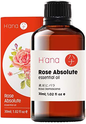 Olio essenziale di rosa - Grado terapeutico puro al 100% per aromaterapia, cura della pelle, capelli e diffusore - 30 ml