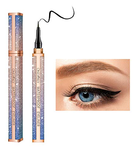 Onlyoily Eyeliner waterproof, eyeliner penna nero,eyeliner liquido impermeabile, antisudicio,24 ore a lunga durata (nero)