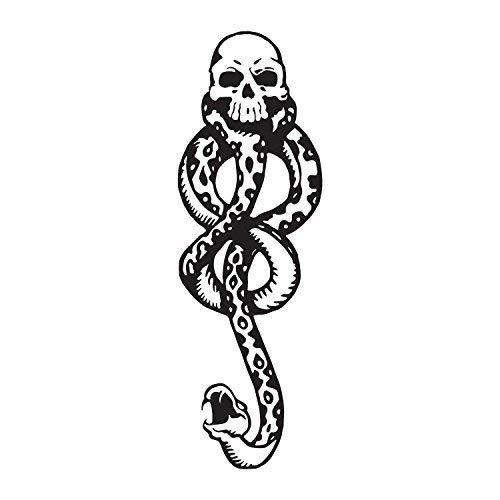 Konsait 20 fogli Mangiamorte Mangiatore oscuro Tatuaggi, Marchio Nero Mangiamorte Tatuaggi temporanei impermeabili per bambini, uomini, donne Halloween Cosplay/harry potter Costume Accessori