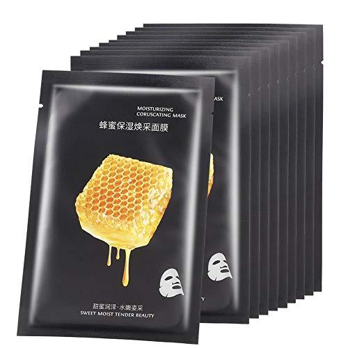10pcs miele nutriente concentrato idratante idratante maschera viso ultra sottile