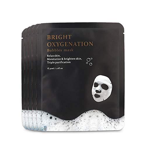 Maschera Per Il Viso, 5 Pz X 30 Ml Maschera Per Bolle Di Ossigeno Maschera Per Pulizia Profonda Anti-invecchiamento Maschera Per Pulizia Bolle Riduzione Dei Pori Ridotti.