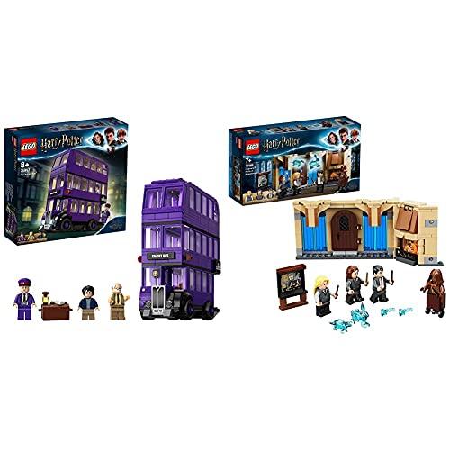 LEGO HarryPotter Nottetempo, Set Da Collezione Con Autobus Giocattolo A 3 Piani Con Minifigure, 75957 & HarryPotter StanzaDelleNecessitàDiHogwarts, Playset Da Costruzione, 75966