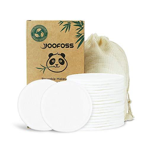 Yoofoss Dischetti Cotone Struccanti Lavabili Bambù 20 Dischetti Struccanti Riutilizzabili in Bamboo e Cotone Salviette Struccante Panno Microfibra per Pulizia Viso Spugnette Porta Make up Panni
