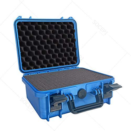 Max Cases - Valigetta con Spugna Cubettata per Trasportare e Proteggere Apparecchiature e Materiali Sensibili, MAX300S Blu, Dimensioni Interne 300 x 225 x 132 mm