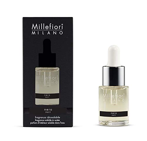 Millefiori Milano fragranza idrosolubile | 15ml | fragranza Nero | da utilizzare con diffusore di fragranza per ambiente ad ultrasuoni Millefiori Hydro
