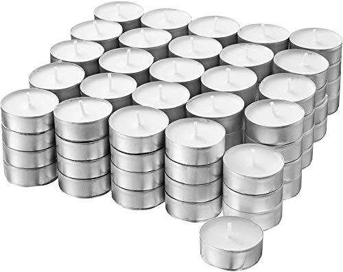 S&S-Shop - 100 candeline da 4 ore di durata di combustione | Bianco | Non profumato | Ø 38 mm | Candele