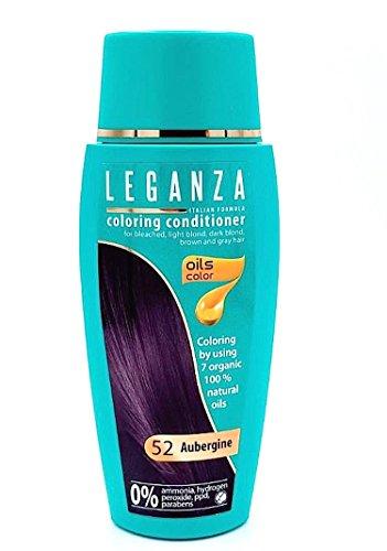 Balsamo Condizionatori Colorazione per Capelli Color 52 Melanzana con 7 Oli Naturale Senza Ammoniaca e Parabeni