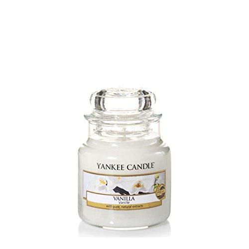 Yankee Candle Candela profumata in giara piccola   Vaniglia   Durata Fino a 30 Ore