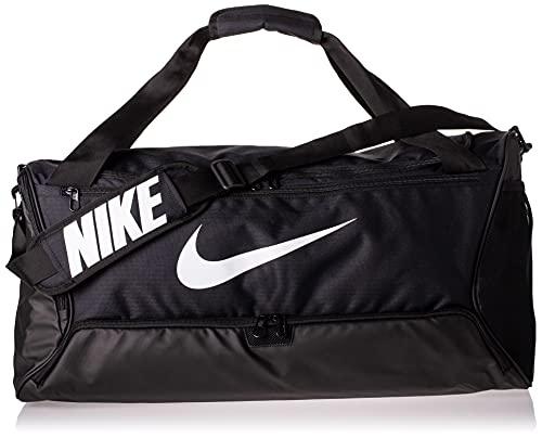 Nike BRSLA Duff 9.0 Zaino Zaino Unisex, Unisex – Adulto, Black/Black/White, One size