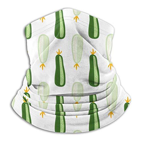 AEMAPE Sciarpa da Passamontagna con Scaldacollo a Scaldacollo Caldo da Donna con Motivo a zucchine e zucchine