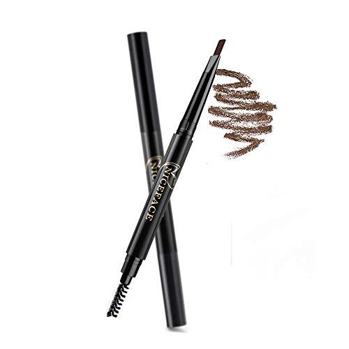 NICEFACE di precisione impermeabile sopracciglia doppio chiuso a matita con sopracciglio spazzole strumenti 5 colori Coffee Pack di 1