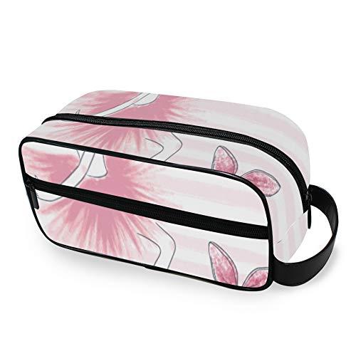 Cute Ballerina Pink Girl Hanging Toiletry Bags With Zippers Travel Toiletry Bag Carry-on Travel Accessories Borse da toilette per viaggiare per uomini e donne Borsa da viaggio per artic