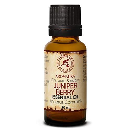 Olio Essenziale di Bacche di Ginepro 20ml - Juniperus Communis - Aromaterapia - Aroma di Conifere - Oli Puri di Bacche di Ginepro per Corpo - Diffusori - Relax - Umore - Sauna