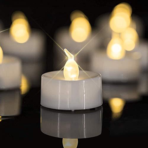 Beneve Candele a LED, 24 candele a LED, realistiche e luminose, a batteria, a LED di lunga durata, per Natale, matrimonio, Pasqua, vacanze, feste