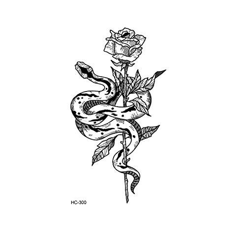 healthwen Autoadesivo del Tatuaggio Universale in Bianco e Nero Personalizzato per Uomini e Donne Adesivo per Tatuaggio USA e Getta con Testo Cinese Bianco e Nero HC-300